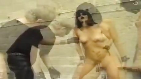 Lovely slut gets ass whipping and some pussy nailing
